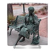 Lady In The Park Shower Curtain
