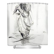 Lady In The Waters Shower Curtain