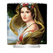 Lady In Veil Shower Curtain