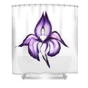 Lady Iris Shower Curtain