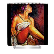 Lady Justice Mini Shower Curtain