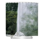 Lady Knox Geyser Erupting Shower Curtain