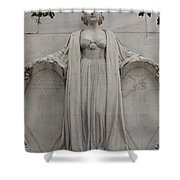 Lady Liberty On Alamo Monument Shower Curtain