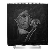 Lady Look At Cello Scroll Shower Curtain