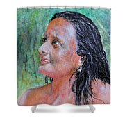 Lady Of India Shower Curtain