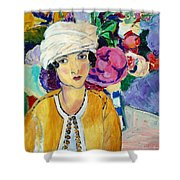 Lady Of Le Piviones Shower Curtain