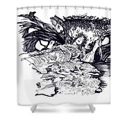 Lady Of Shalot Shower Curtain