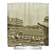 Lady Of The Derby Shower Curtain