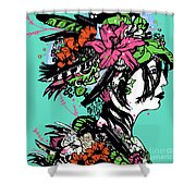 Lady Of The Garden Shower Curtain