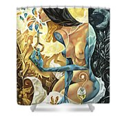 Lady Of The Key Shower Curtain