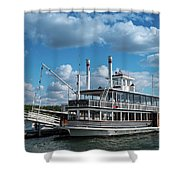 Lady Of The Lake Wisconsin Shower Curtain