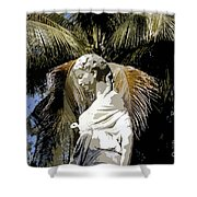 Lady Of The Palms Shower Curtain