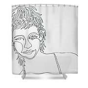 Lady On A Line Shower Curtain