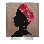 Lady Pink Shower Curtain