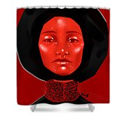 Lady Red Shower Curtain