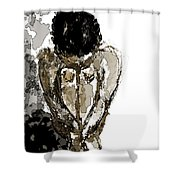 Lady Sitting Shower Curtain