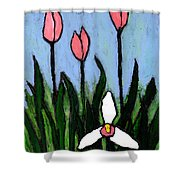Lady Slipper And Court Shower Curtain