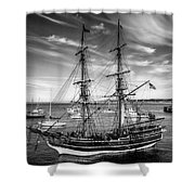 Lady Washington In Black And White Shower Curtain