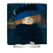 Lady With A Hat And A Feather Boa Shower Curtain