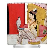 Lady With A Hawk Shower Curtain