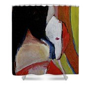 Lady With A Mask Shower Curtain