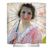Lady With A Parasol 1921 Shower Curtain