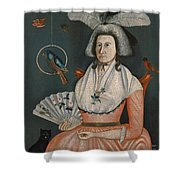 Lady With Her Pets. Molly Wales Fobes Shower Curtain