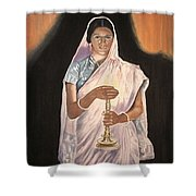 Lady With Lamp Shower Curtain