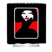 Lady With The Red Lips Shower Curtain