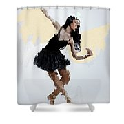 Lady With Wings Shower Curtain