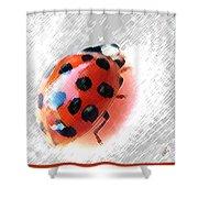 Ladybug Spectacular Shower Curtain