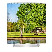 Lafreniere Park 2 - Paint Shower Curtain