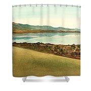 Lago Del Coghinas Shower Curtain