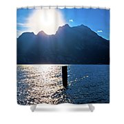 Lago Di Garda At Sunset View Shower Curtain