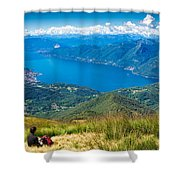 Lago Maggiore Italy Switzerland Shower Curtain
