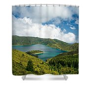 Lagoa Do Fogo Shower Curtain