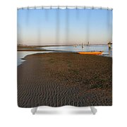 Lagoon At Low Tide Shower Curtain