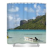 Lagoon At Maupiti Shower Curtain