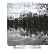 Lagoon Reflection 1 Shower Curtain