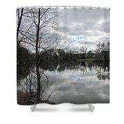 Lagoon Reflections 2 Shower Curtain