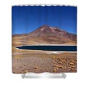 Laguna Miniques And Miniques Volcano Chile Shower Curtain