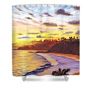 Laguna Village Sunset Shower Curtain
