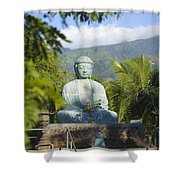 Lahaina Buddha At Jodo  Shower Curtain
