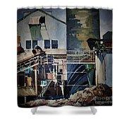 Lahaina Sugar Mill Shower Curtain