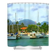 Lahina Harbor Shower Curtain