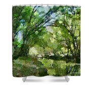 Lahinja River Shower Curtain