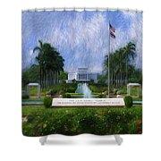 Laie Hawaii Temple Shower Curtain