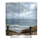 La Jolla Cliffs Shower Curtain