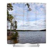 Lake 395 Shower Curtain