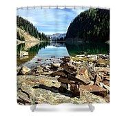 Lake Agnes Tea House Shower Curtain
